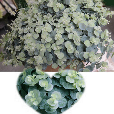 16 Heads Silk Artificial Leaves Tree Branches Plant Faux Foliage Home Decor