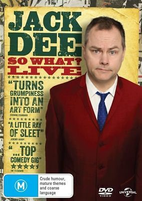 Jack Dee: So What? Live (DVD, 2013) Brand New & Sealed, Region: 2, 4 & 5