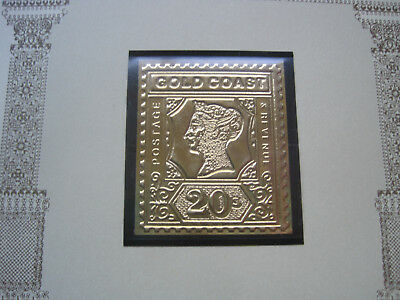 Briefmarken-Raritäten in Gold, Goldküste-20 Shilling