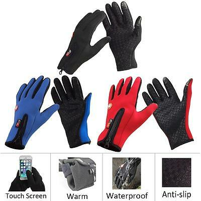 Pop Winter&autumn Unisex Windproof Touch Screen Sports Glove Bikes Motorcycle LE