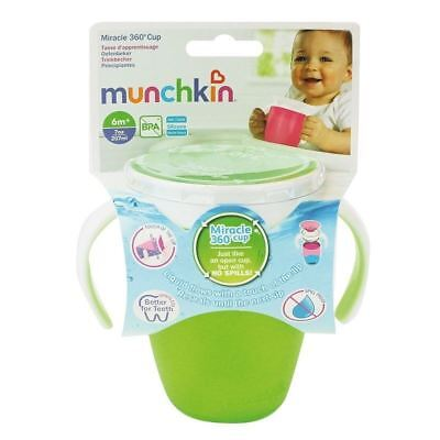 Munchkin Miracle 360 Trainer Cup Green 207ml 1 2 3 6 12 Packs