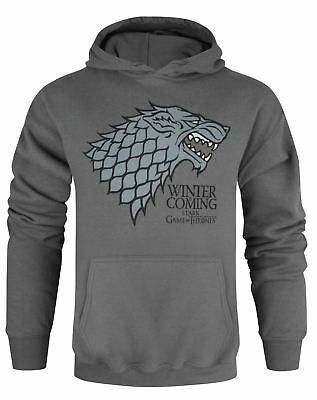 Game Of Thrones Stark Winter Is Coming Charcoal Unisex Hoodie