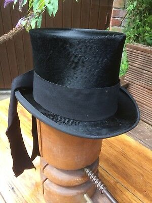 1920's Vintage Silk Top Hat. The Hatter City, Carswell, Glasgow. V.G.condition.