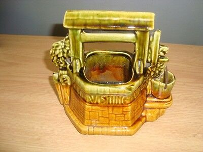 """Vintage Mccoy Wishing Well Planter """"oh Wishing Well Grant A Wish To Me"""""""
