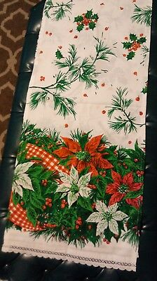 vintage Christmas Holly Table Runner