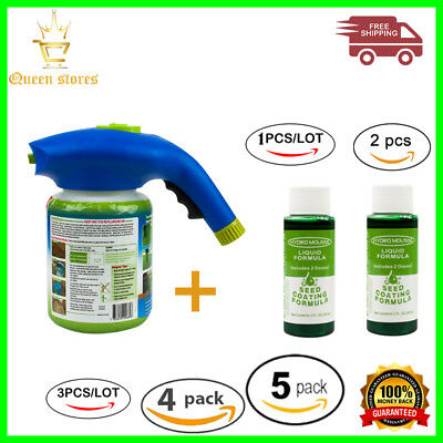 HYDRO MOUSSE HOUSEHOLD SEEDING SYSTEM LIQUID SPRAY SEED LAWN CARE GRASS SHOT Too