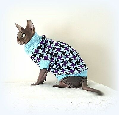 Warm winter for a Sphynx, cat clothes, sweater, Nacktkatze, Sphynx cat clothes..