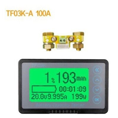 Battery Monitor Coulomb METER DC 120V 100A Capacity Tester lithium lead-acid CAR