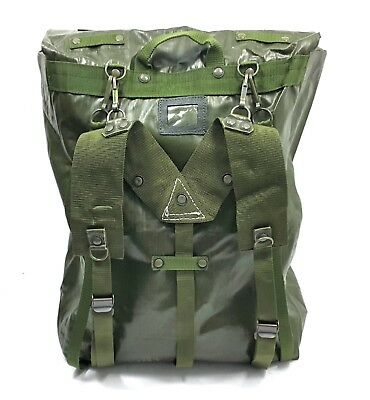 Czech Army Vintage Military Backpack Rubberized Surplus Od Green Pouch Bag Pack