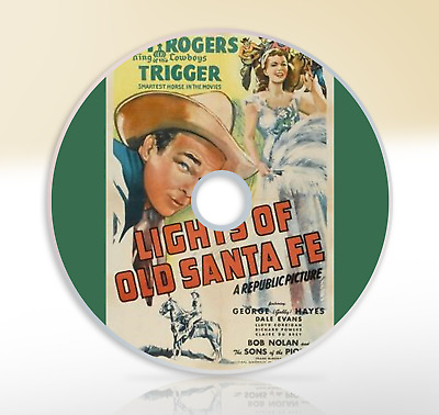 Lights Of Old Santa Fe (1944) DVD Classic Musical Western Film Movie Roy Rogers