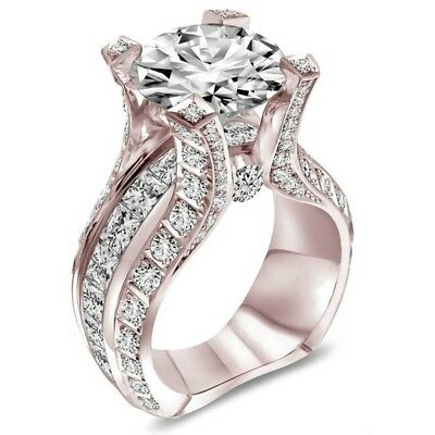 New Style 1PC Women Fashion Jewelry Rose Gold Ring For Party/Enagement/Wedding