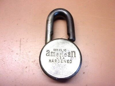 Vintage AMERICAN LOCK CO. Series 10 Padlock USA Hardened Steel No Key Clean!