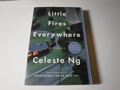 Signed ARC/PROOF 1st Little Fires Everywhere by Celeste Ng (2017, Hardcover)