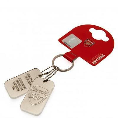 ARSENAL  FC  DOG TAGS Keyring   OFFICIAL LICENSED  MERCHANDISE GIFT