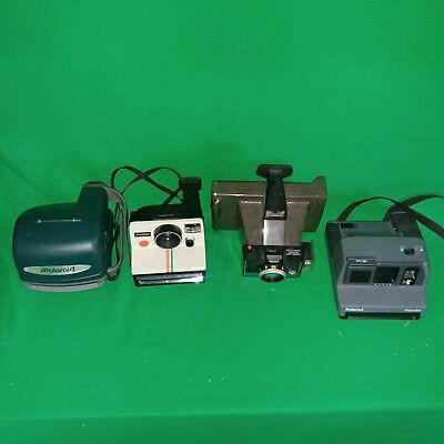 Polaroid  Cameras MIX Lot Of 4 TESTED GOOD