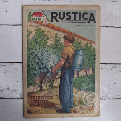 VINTAGE FRENCH FARM HOME & GARDEN MAGAZINE Rustica 1951 Vines Snipe Cyclamens