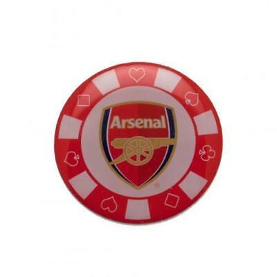 Arsenal FC  Poker Chip Pin Badge OFFICIAL LICENSED  MERCHANDISE GIFT