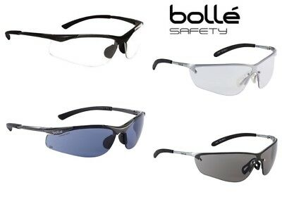 Bolle Contour & Silium Protective Safety Spectacles Glasses Clear or Smoke Lens