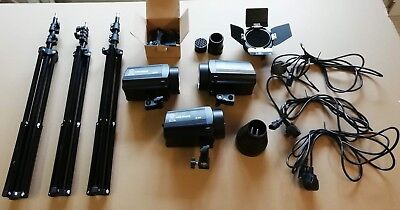 Photographic Studio Flash (x3)  Set - With tripods, and other bits, see photos!