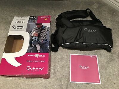QUINNY Curbb Baby Hip Carrier - Black with removable baby insert - 6-24 months
