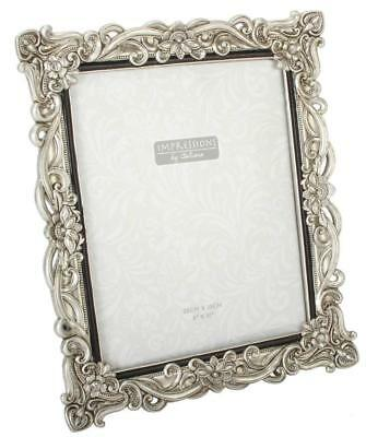"Silver Resin Antique Effect Photo Frame 8x10"" Photograph Horizontal or Portrait"
