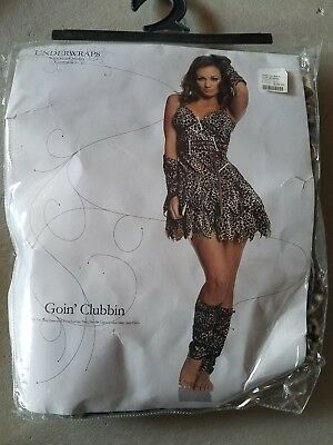 C NEW Adult Underwraps Goin Clubbin Halloween Costume Size S