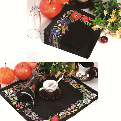 Creative embroidery Napkins Paper Virgin Wood Tissue Birthday Wedding Party &l
