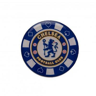 CHELSEA FC  Poker Chip Pin Badge OFFICIAL LICENSED  MERCHANDISE GIFT