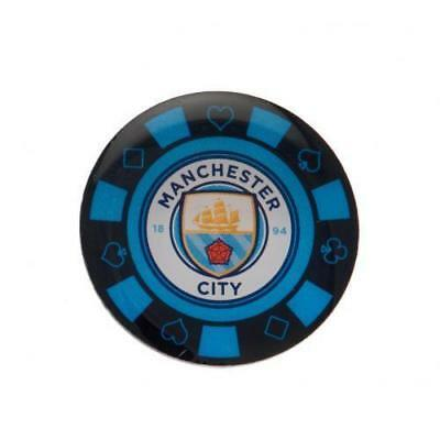 MANCHESTER CITY  FC  Poker Chip Pin Badge OFFICIAL LICENSED  MERCHANDISE GIFT