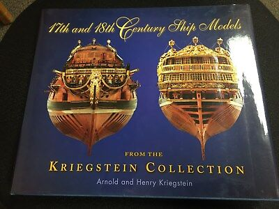 17th and 18th Century Ship Models Kriegstein Collection 1st Edition limit 1,000