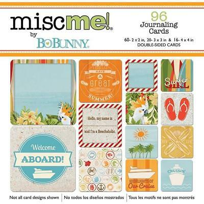 Bo Bunny Misc Me BEACH THERAPY Pocket Squares (96) Journaling Cards Planner