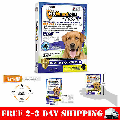 VetGuard Plus Flea & Tick Treatment for X-Large Dogs Over 66 lbs 4 Month Supply