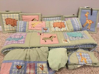 KIDSLINE Jungle/Safari Animals Baby Nursery Bedding Crib Set Boy Girl 10 Piece