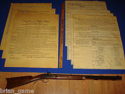 Declaration, Constitution w/4 pages Bill of Rights, Poster Size 23 x 29 Repro