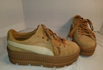 low priced c0930 d5574 NEW PUMA FENTY By Rihanna Cleted Creeper Tan Suede Sneakers Women's Size Us  8