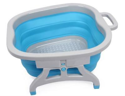 Foldable Bucket Foot Bubble Bath Massage Soothing Soaking Relax Wet Spa Relaxing