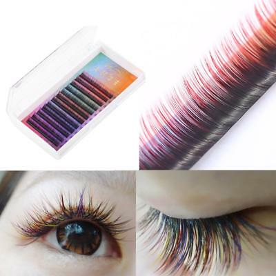 False Lashes 2pcs Eyelashes Extension 3d Gradient Color Fake Eye Lash Hand Made