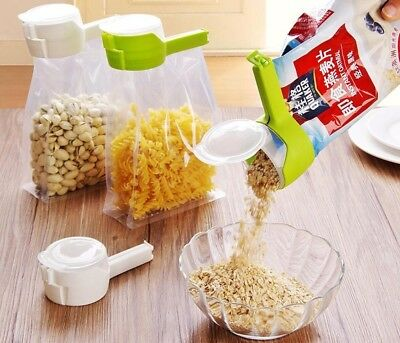 Food Storage Clamp Fresh Keeping Pour Bag Clip Snack Kitchen Tool Seal Reusable