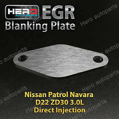 EGR Blanking Plate suits Nissan Patrol / Navara D22 ZD30 3.0L Direct Injection