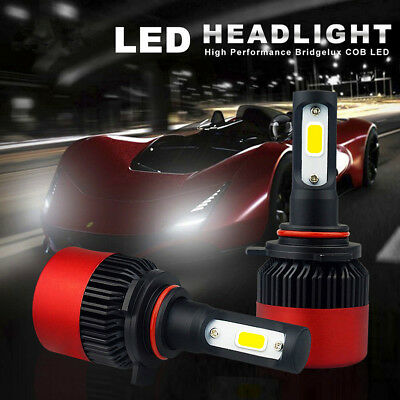 2X 9012 LED Built-in Fan 6500K 16000lm Low Beam Headlight