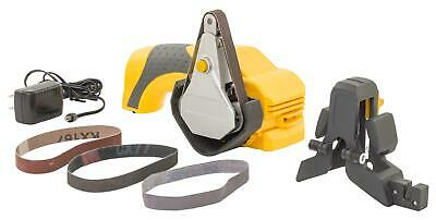 Smiths Consumer Products Cordless Knife & Tool Sharpener, 3 Abrasive Belts, Lith