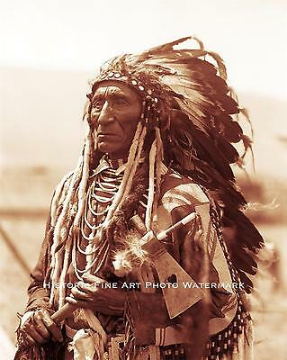 Flathead Indian Chief Vintage Photo Native American Old West 1888 8X10 #21634