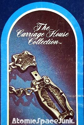 Amerock Carriage House Chain Guard Door Lock Vintage New In Box Antique Silver
