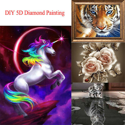 Full Drill DIY 5D Diamond Painting Embroidery Cross Craft Stitch Kit Decor MN