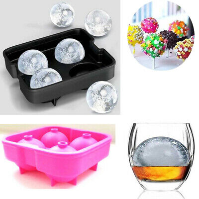Silicon Ice Cube Round Ball Maker Mold Sphere Whiskey Bar Mould Brick Party Tray