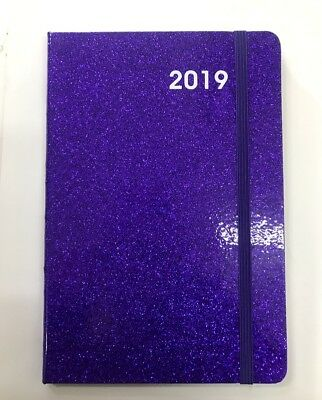 2019 Diary Glitter Cover A5 Week To Page Lady's Diary Week To Opening-Purple