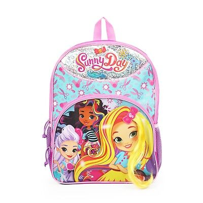"Sunny Day 16"" Backpack School Book Bag Tote Full Size w/ Hair"