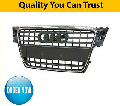 2008-2012 Audi A4 B8 Front Grille Black With Chrome Frame New
