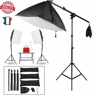 Boite Lumière Softbox pour Flash Studio Photo Video Kit 50*70cm +Trépied+Lampe