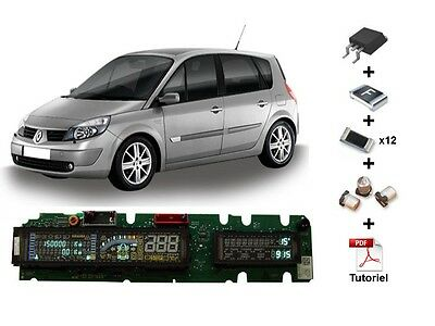 Repair kit for cluster Renault Scenic 2 or Espace 4 dashboard (17 components)